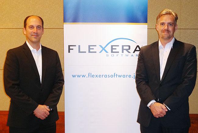 (左から)オルソン・アダム・グローバル・バイス・プレジデント、スクワイヤーズ・コートニー・日本セールスマネージャー