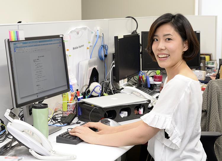 モバイルファクトリー 人事総務部リーダー 前野桃子さん