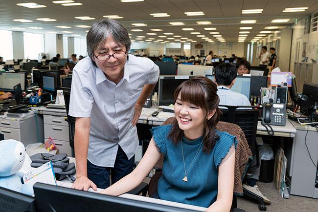 会社は上司を含め周囲の人たちに仕事の相談しやすい環境だという宮腰さん