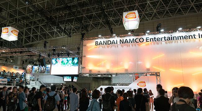 バンダイナムコエンターテイメントのブース