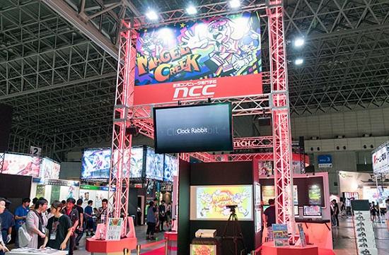ゲームショウ会場には大学や専門学校も出展(写真は新潟コンピュータ専門学校のブース)