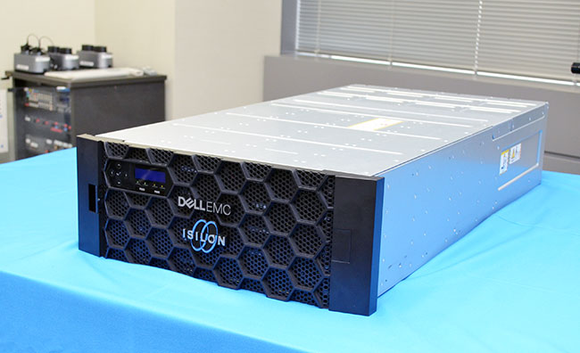 新型の「Dell EMC Isilon」