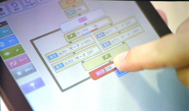 プログラム用ソフトで子供でも簡単にプログラミングができる
