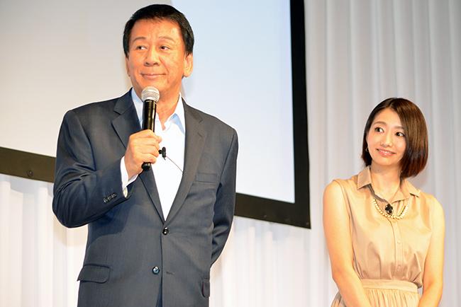 ゲストで登場した杉良太郎さんと眞鍋かをりさん