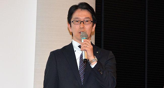 5Gの活用について説明するセコムの寺本浩之・企画部 担当部長
