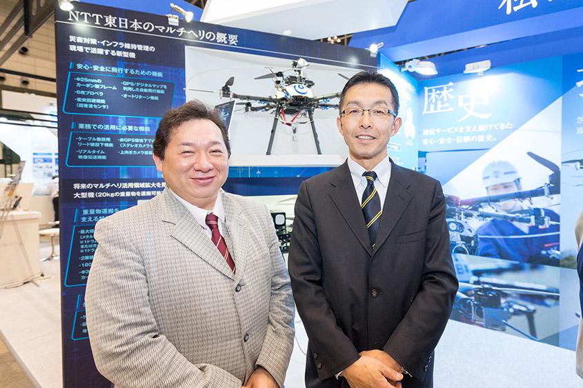NTT東日本 ネットワーク事業推進本部 高度化推進部 担当課長 芹田尚さん(左)、ネットワーク事業推進本部 高度化推進部 部門長 上原邦明さん(右)