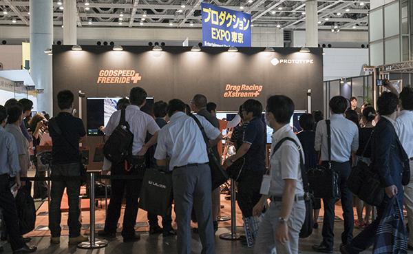 「GodSpeed FreeRide+」は常に1時間待ちの人気展示だった。