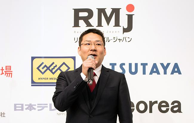 RMJの代表理事を務める携帯市場の粟津浜一氏が設立背景を説明