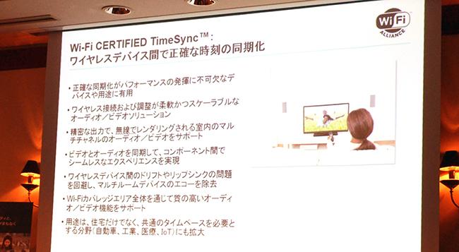 「Wi-Fi CERTIFIED TimeSync」の概要